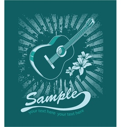 music t-shirt design vector image