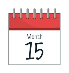 Calendar showing month and day vector