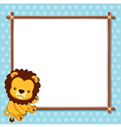 A Lion with white blank vector image vector image