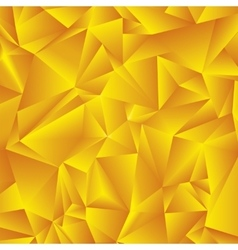 Abstract golden triangle background vector