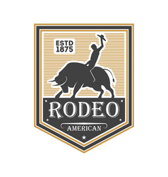 American rodeo vintage isolated label vector