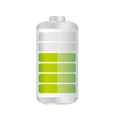 Battery in seventy percent icon vector