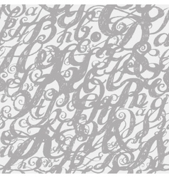 Calligraphy alphabet typeset lettering Seamless vector image vector image