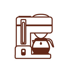 coffee maker machine vector image vector image