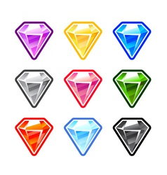 Colourful diamonds vector