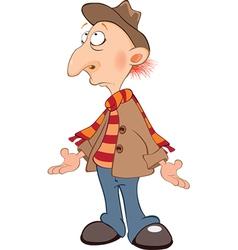 Cute Senior Cartoon Character vector image vector image
