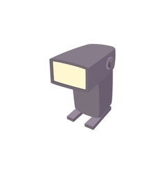 External flash camera icon cartoon style vector