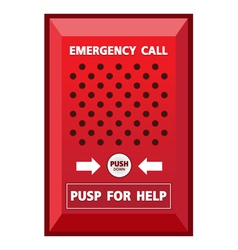 Fire emergency call sign vector