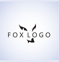 fox logo ideas design on background vector image vector image
