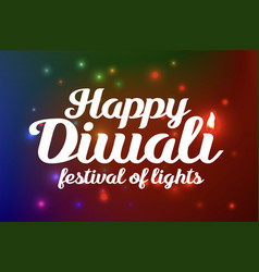 happy diwali festival of lights vector image vector image