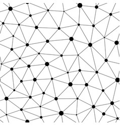 monochrome seamless pattern triangular mesh vector image