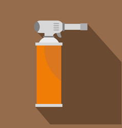 Orange gas cylinder icon flat style vector