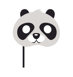 Panda mask bear with black patches round eyes vector