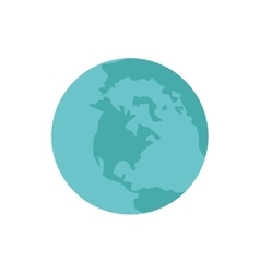 Planet earth blue world icon vector