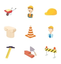 Repair tools icons set cartoon style vector