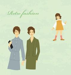 Retro fashion vector