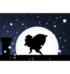 Santa visit vector image vector image