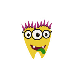 Scary cool monster avatar - animated cartoon vector