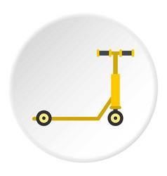 scooter icon circle vector image
