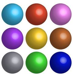 set 3D balls vector image