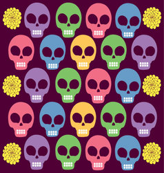 skulls colored vector image vector image