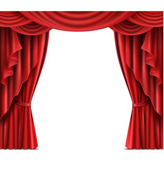 stage curtain with copyspace realistic vector image vector image