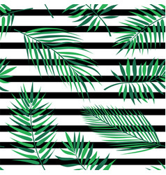 Tropical palm leaves - seamless modern material vector