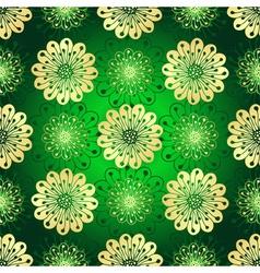 Vintage green seamless pattern vector image