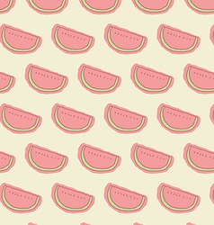 Watermelon seamless pastel color background vector image vector image