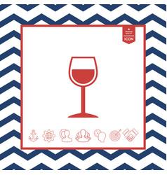 wineglass symbol vector image