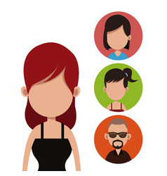 Young woman people community vector