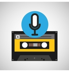Microphone music cassette tape vector