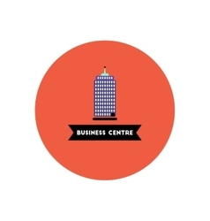 Stylish icon in color circle building business vector
