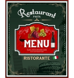Vintage italian restaurant menu and poster design vector