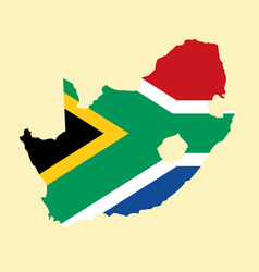 South africa map vector