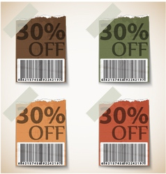Vintage Discount Tags Design vector image