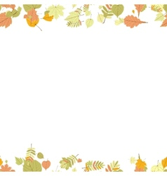 Seamless autumn leaves pattern vector image