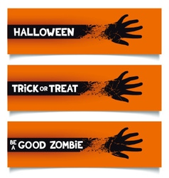 Halloween banners template vector