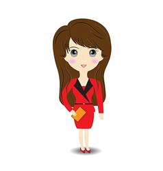 Business woman on white background vector