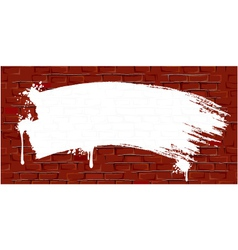 Grungy old wall vector