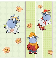 Background with cows vector