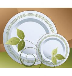 floral plate vector image