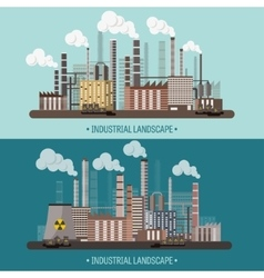 Urbanization industrial vector