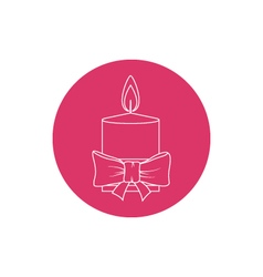 Linear icon christmas festive candle vector