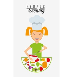 Cooking concept design vector