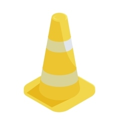 Traffic cone icon in cartoon style vector
