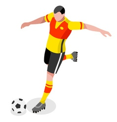Soccer striker 2016 sports 3d vector