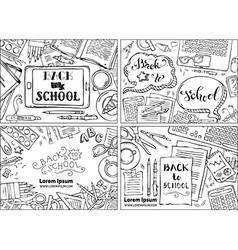 Set of back to school backgrounds vector