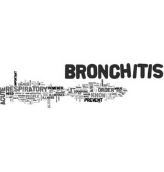 acute bronchitis text word cloud concept vector image vector image