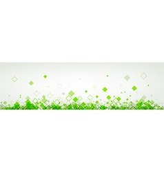 Banner with green rhombs vector image vector image